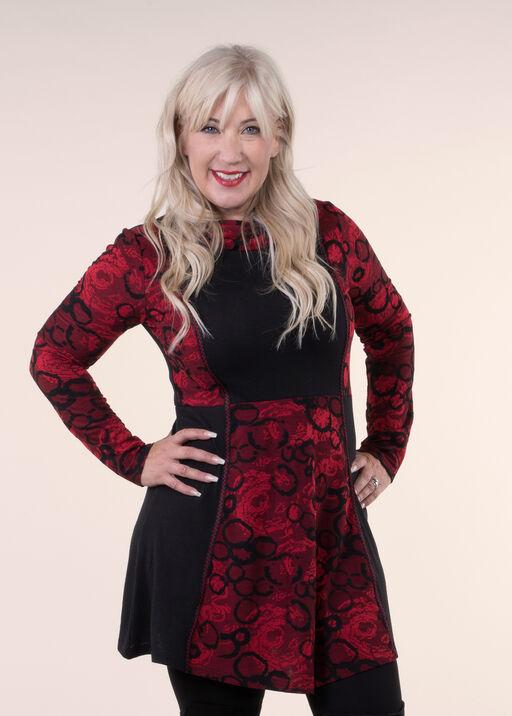 Dress with Cowl Neck, Red, original