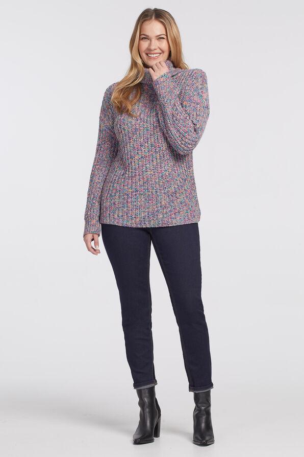 Vibrantly-Versatile Turtleneck Sweater, Multi, original image number 0