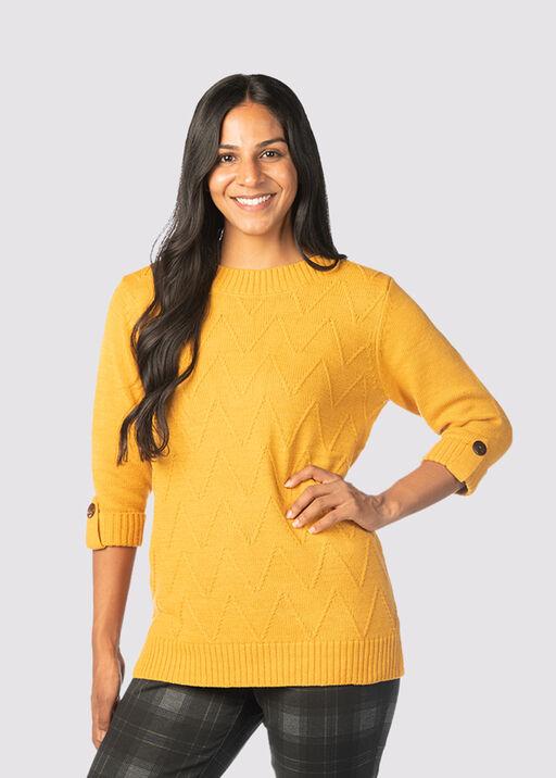 Preppy-Posh Sweater, Gold, original