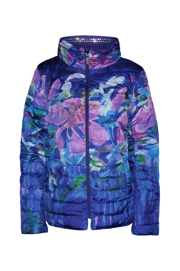 In the City Reversible Jacket with Hidden Hood, Purple, original image number 0