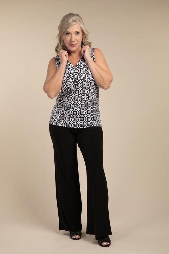 Wide Leg Dress Pant, Black, original image number 3