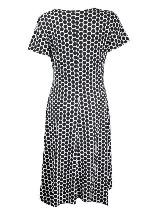 Short Sleeve Wrap Dress, Black, original