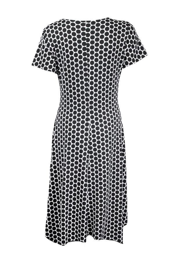 Short Sleeve Wrap Dress, Black, original image number 1