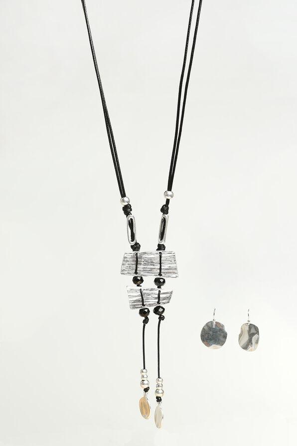 Dazzling Long Necklace Set, Silver, original image number 0