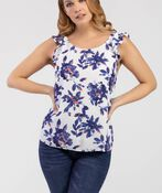 Cherish Sleeveless Blouse, Blue, original image number 0