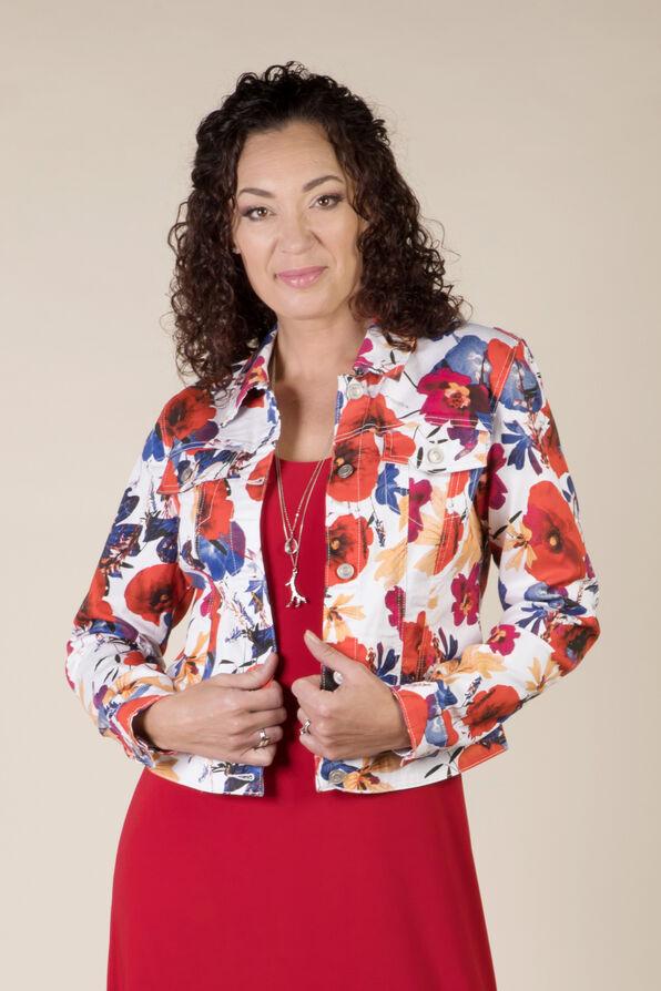 Poppy Denim Jacket, Coral, original image number 0