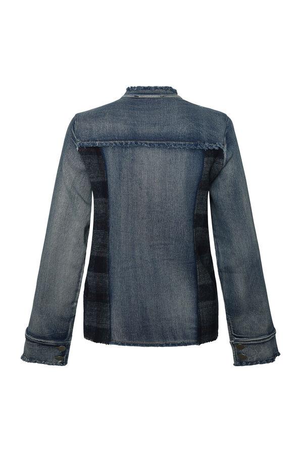 Evanna Embellished Denim Jacket, Denim, original image number 1