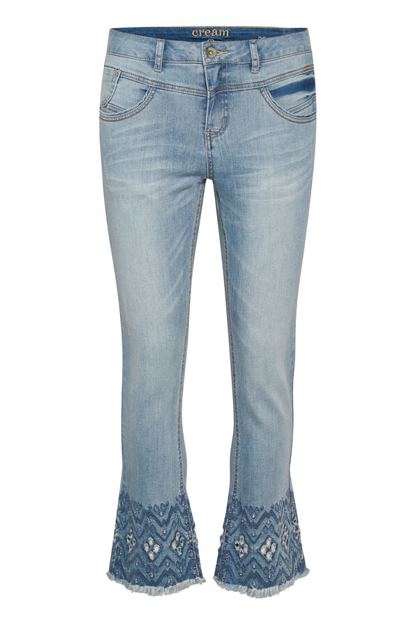 Cream Shape Fit Analis Jeans, Denim, original image number 0