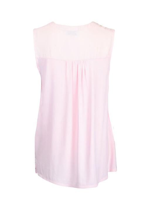 Sleeveless Notch Neck Blouse, Pink, original