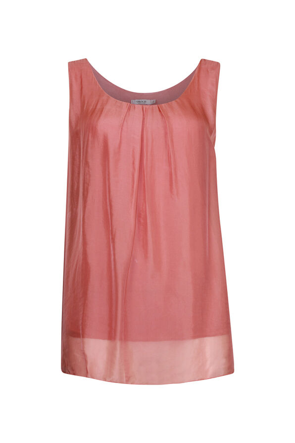 Sleeveless Silk Top , , original image number 1