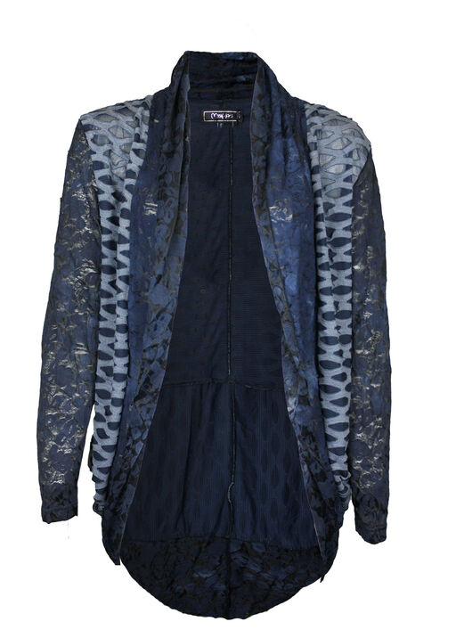 Lace in Layers Cardigan, Navy, original