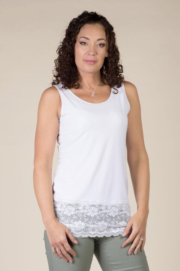 Lace Trimmed Cami, , original image number 0