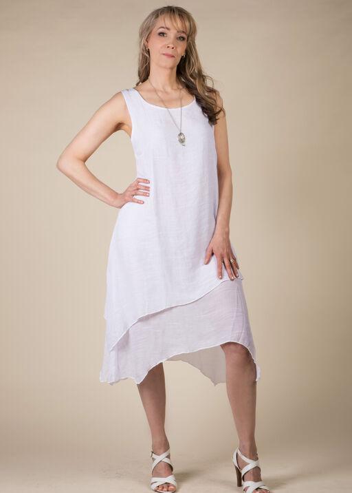 Basic Maxi Dress, White, original