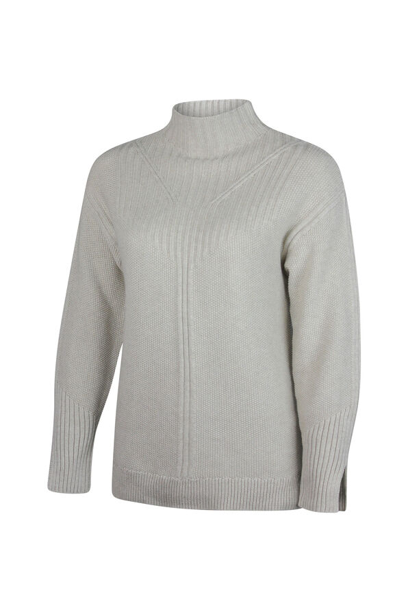 Pointelle Knit Sweater, , original image number 0