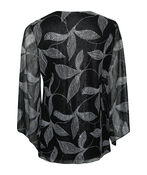 Leaf Bell Sleeve Top , Black, original image number 1
