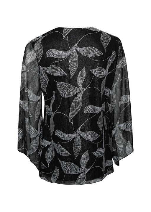 Leaf Bell Sleeve Top , Black, original