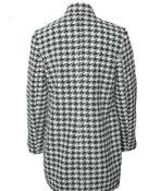Sleek Houndstooth Jacket, Black, original image number 1