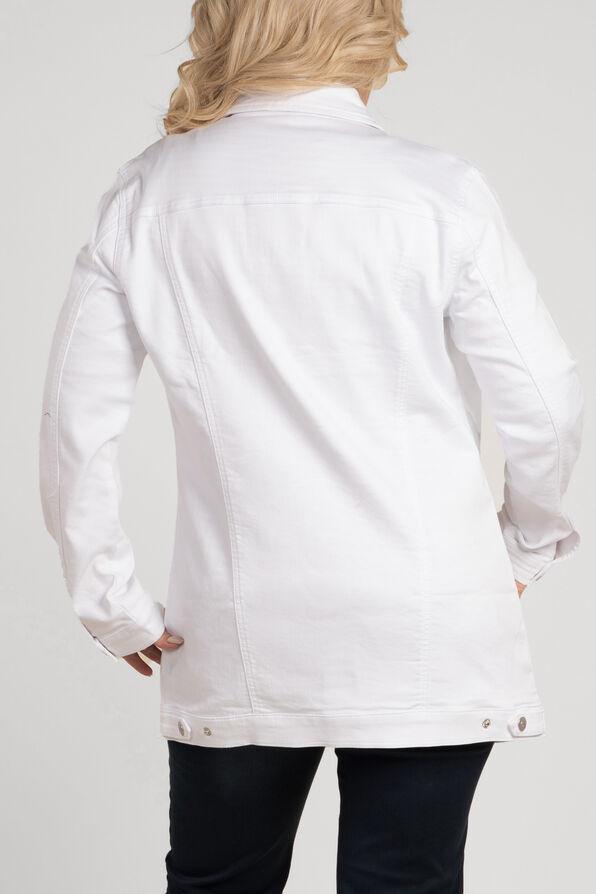 Jean Jacket Maxi, White, original image number 2