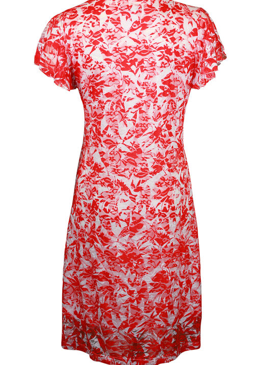 Spilt Flutter Sleeve Lace Midi Dress, Coral, original