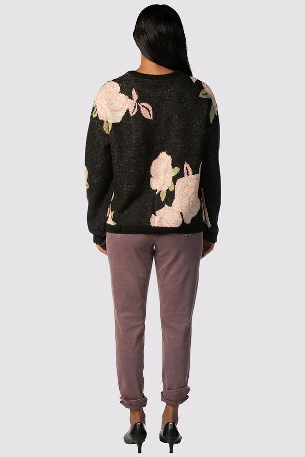 Clarkia Throwback Sweater, Black, original image number 1