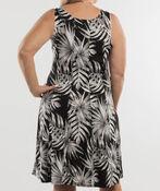 Moonlit Palms Dress, Black, original image number 1