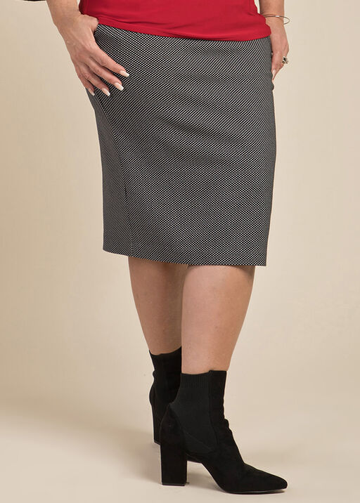 Polka Dot Pencil Skirt, Black, original