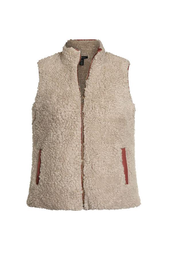 Reversible Sherpa Vest, Red, original image number 2