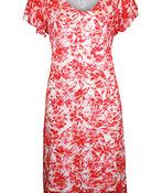 Spilt Flutter Sleeve Lace Midi Dress, Coral, original image number 0