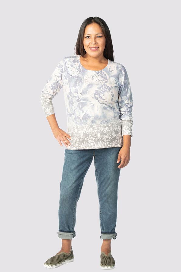 Unbelievably Soft Sweater , Denim, original image number 0