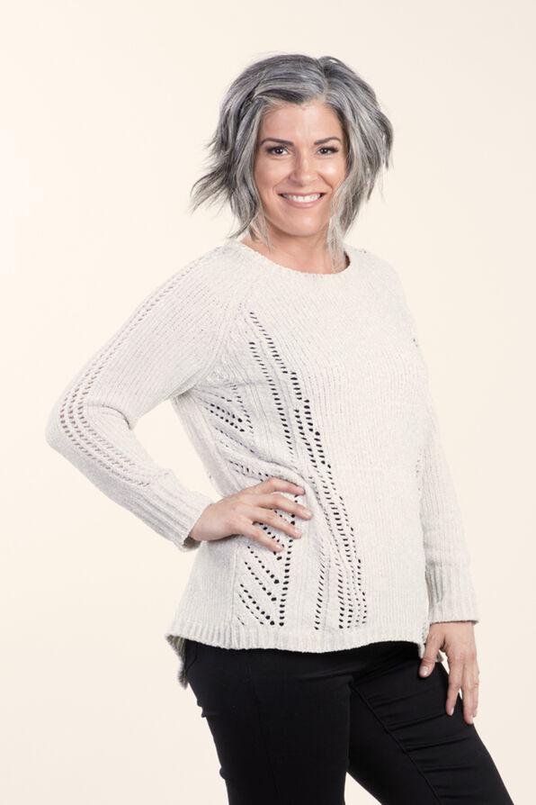 Long sleeve Pullover Sweater, Cream, original image number 0