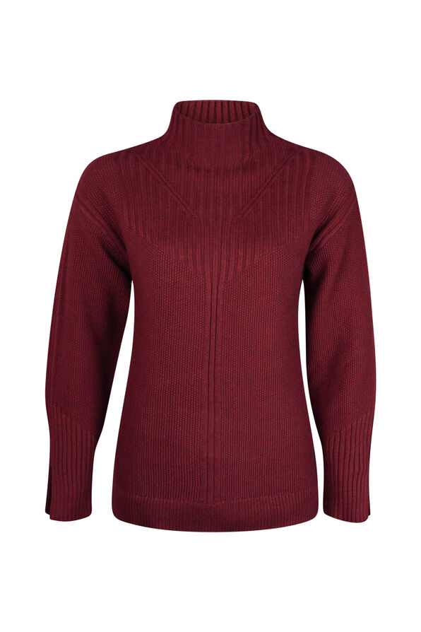 Pointelle Knit Sweater, , original image number 2