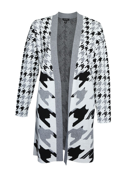 Houndstooth Long Cardigan, , original