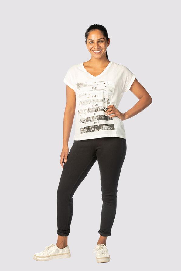 Metallic City T-Shirt, Ivory, original image number 0