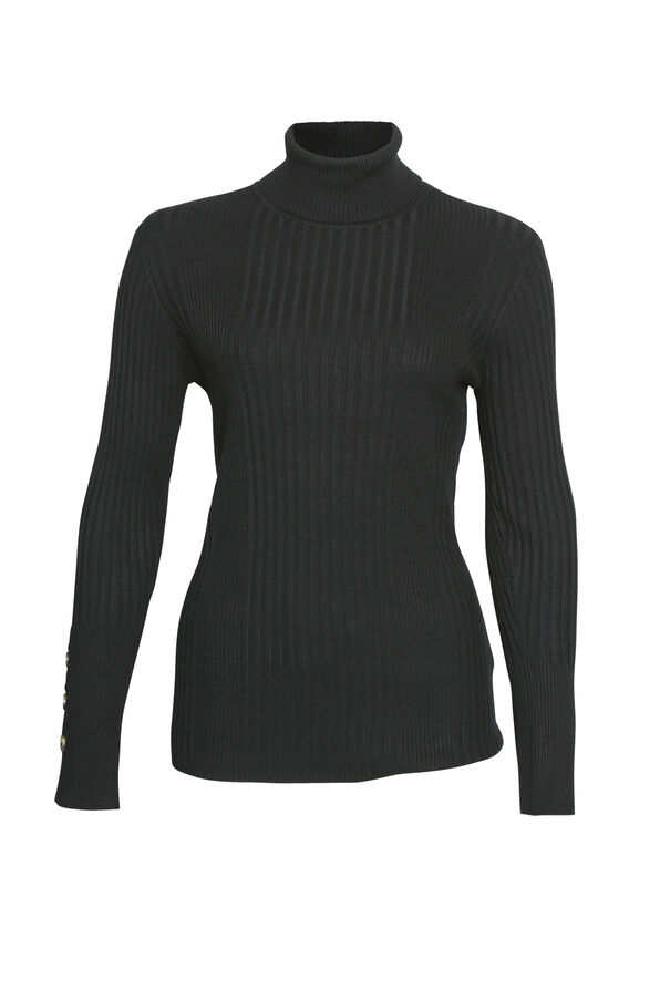 Regina Ribbed Turtle Neck, , original image number 1