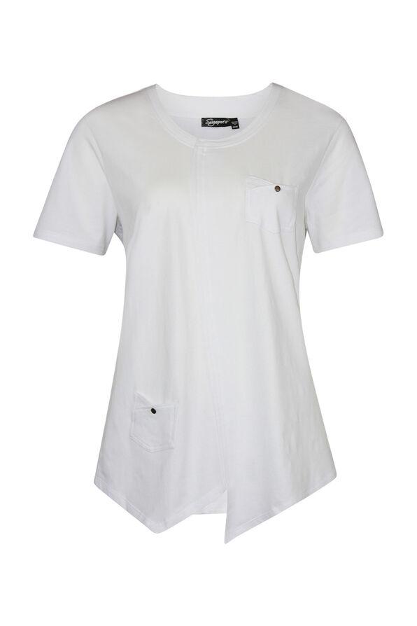 Asymmetrical Cross-Over T-Shirt, , original image number 3