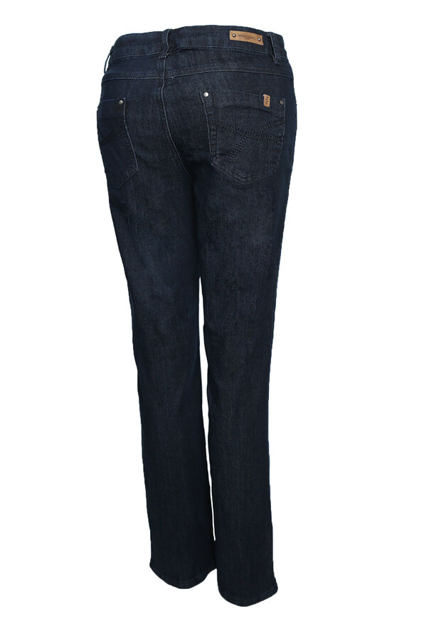 Simon Chang Classic Jeans in Petite, Indigo, original image number 1