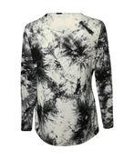 Mixed Animal Print Long Sleeve Top, Black, original image number 1