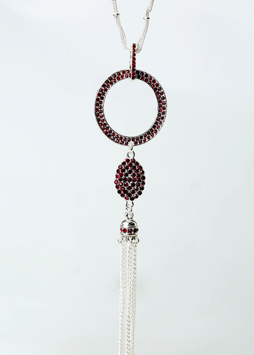 Flapper Necklace, Red, original