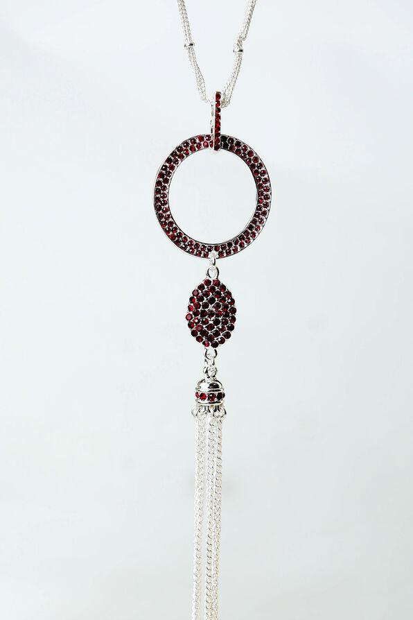 Flapper Necklace, Red, original image number 1