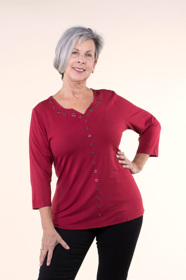 Bamboo A-Line top with Grommets, , original image number 1