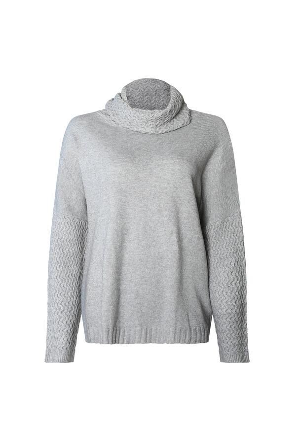 Imani Textured Cowl Neck Sweater, , original image number 2