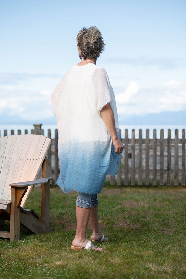 Dip Dye Polka Dot Kimono, Blue, original image number 1