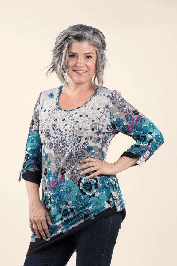 Print Knit Tunic, , original image number 1