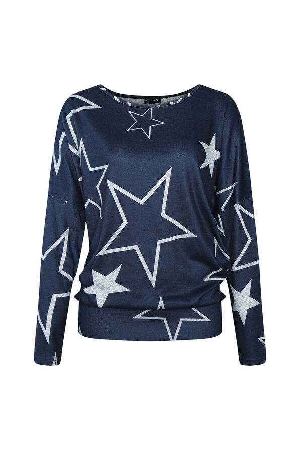 Rising Star Sweater, Navy, original image number 0