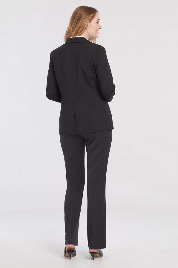 Swiss Dot Cuffed Blazer, Black, original image number 3