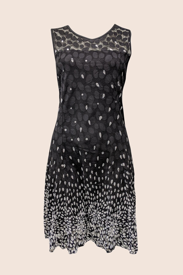 Sheer Happiness Dress, Black, original image number 0