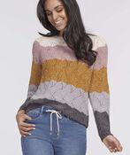 Katie Waffle Sweater, Multi, original image number 2