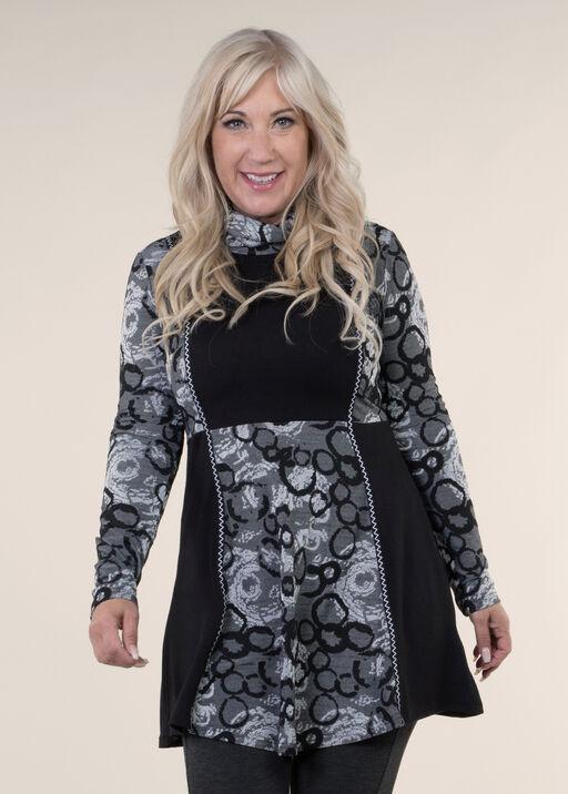 Dress with Cowl Neck, White, original