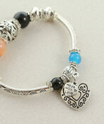 Heart Charm Bracelet, Multi, original image number 1