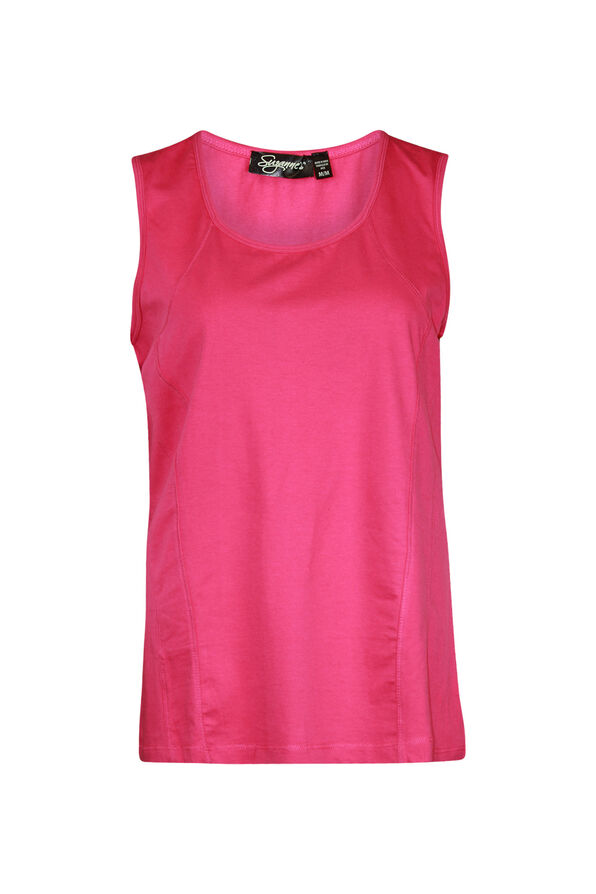 Stretch Cotton Tank Top, , original image number 0
